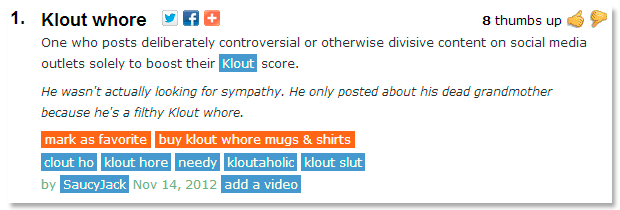 klout whore
