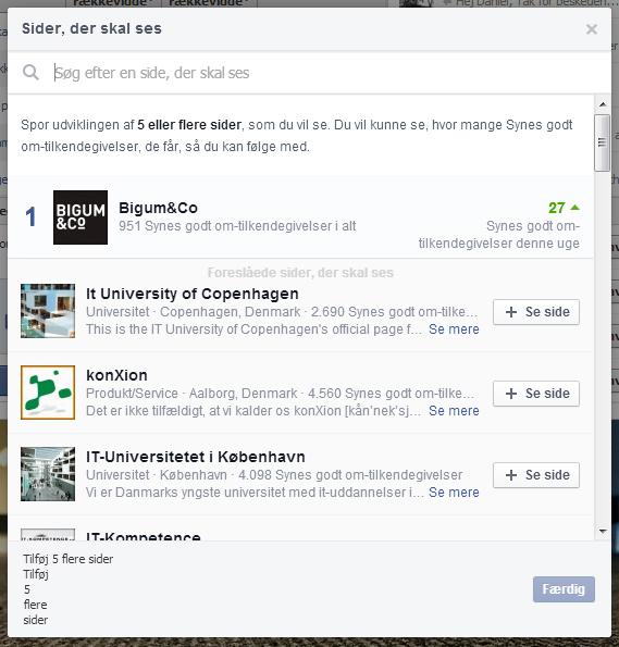facebook 5 sider der