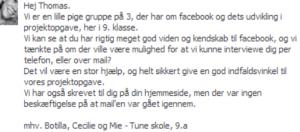 skoleopgave facebook