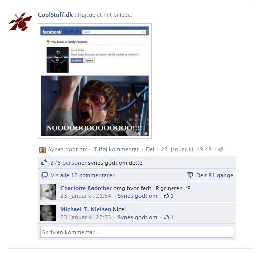 CoolStuff Facebook Opdatering 23 januar 2012